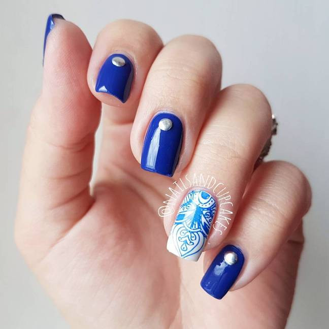 Royal Blue Nail Designs  Experience the Glamorous Style of Royal Blue Nail Designs