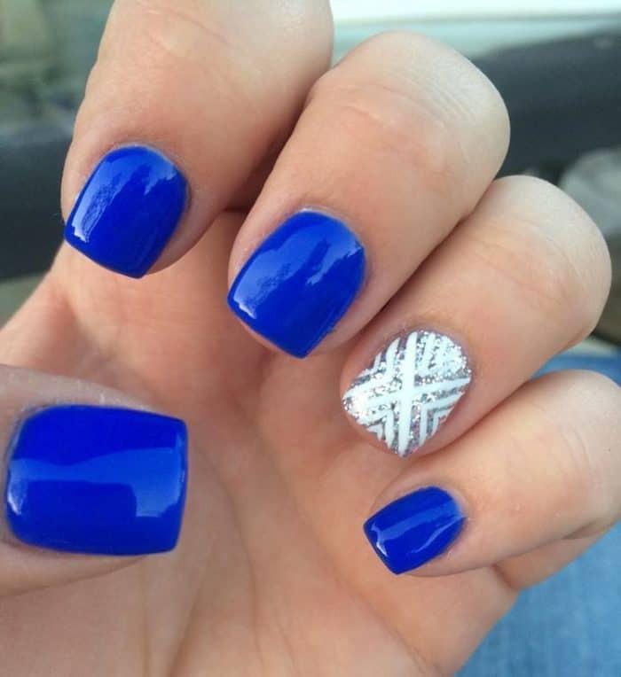 Royal Blue Nail Designs  40 Easy and Cool Nail Designs SheIdeas