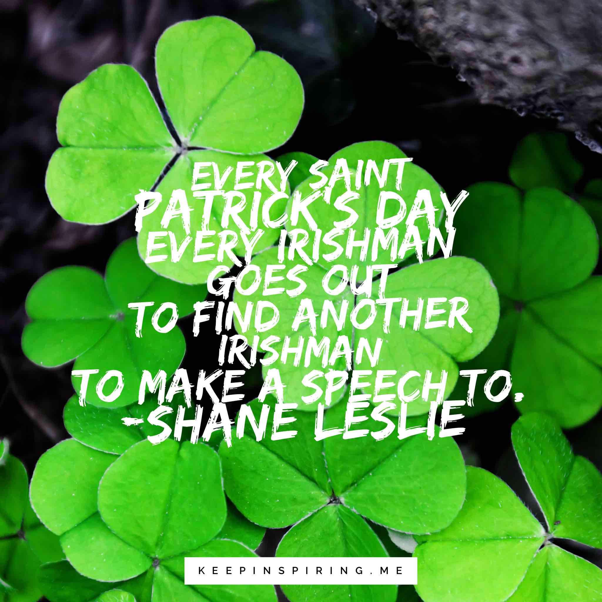Saint Patrick's Day Quotes  17 Saint Patrick s Day Quotes to Celebrate the Irish
