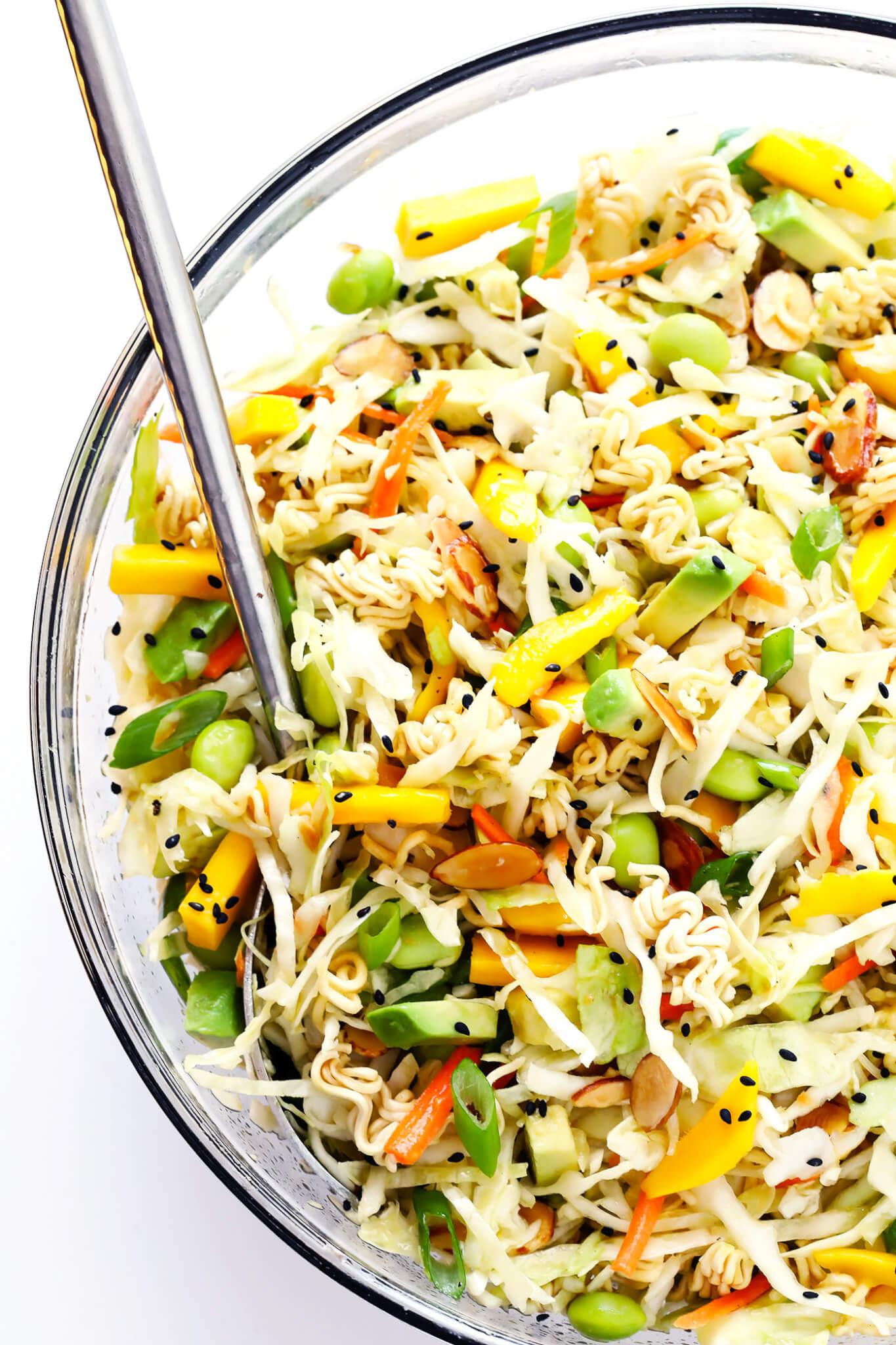 Salads With Ramen Noodles  Crunchy Asian Ramen Noodle Salad