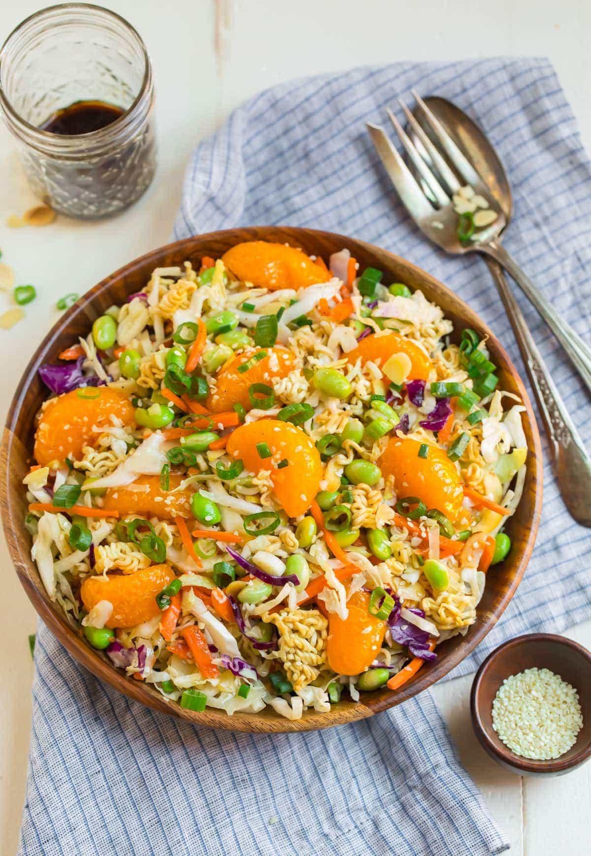 Salads With Ramen Noodles  Ramen Salad Best Ever Crunchy Asian Ramen Salad