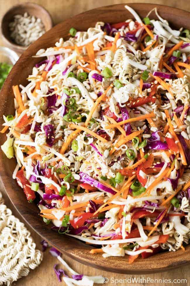 Salads With Ramen Noodles  Ramen Noodle Salad Great Summer Side Spend With Pennies