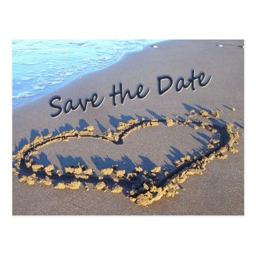 Save The Date Beach Wedding  Beach Wedding Save the Date postcards