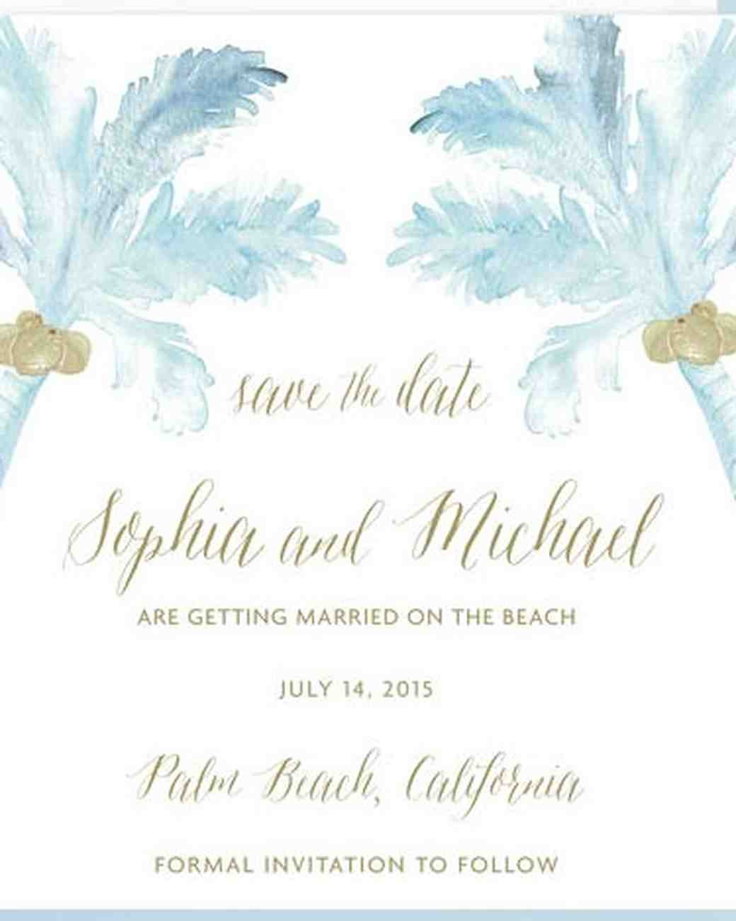 Save The Date Beach Wedding  32 Destination Wedding Save the Dates