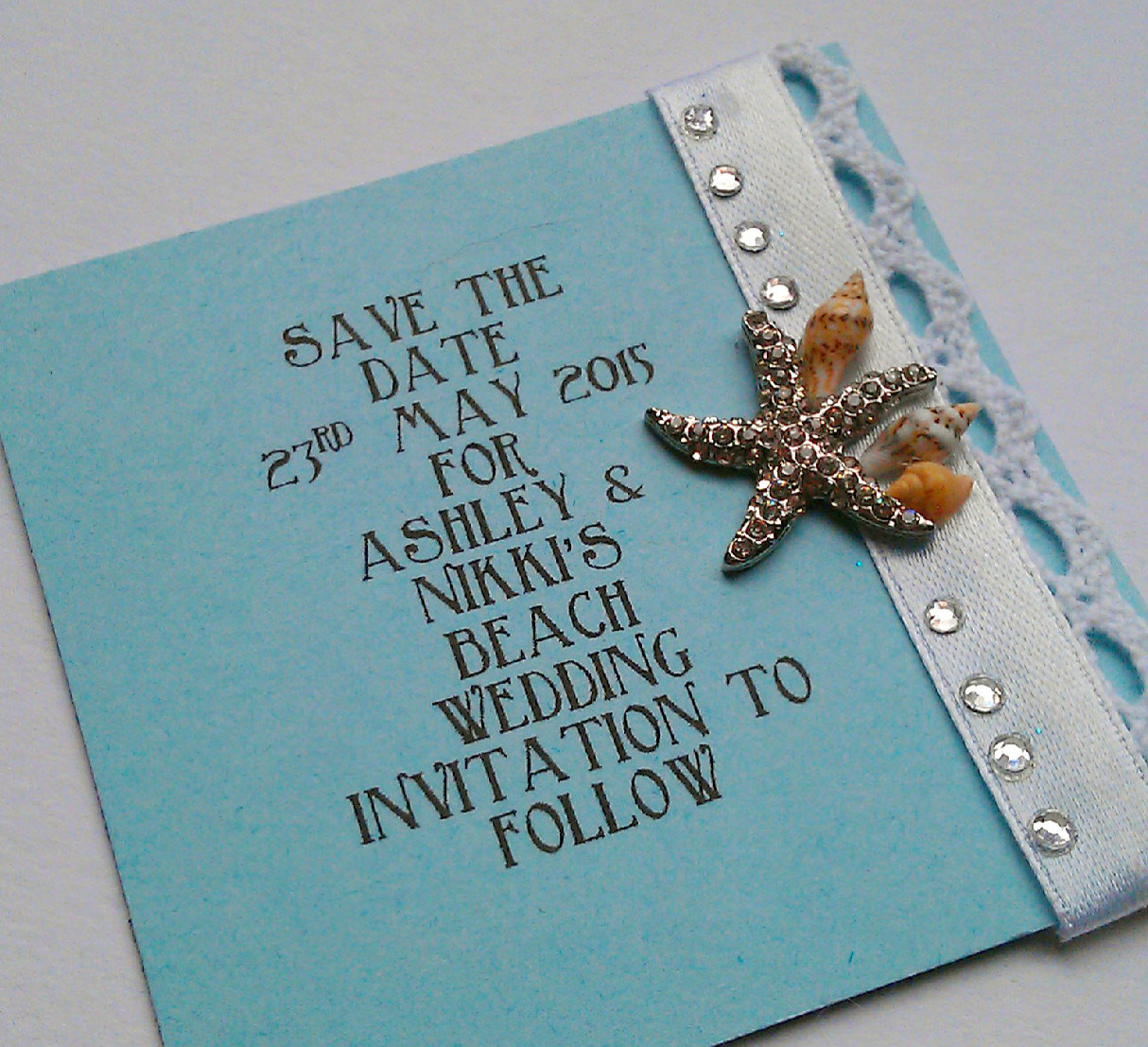 Save The Date Beach Wedding  Beach Wedding Save the Date small square
