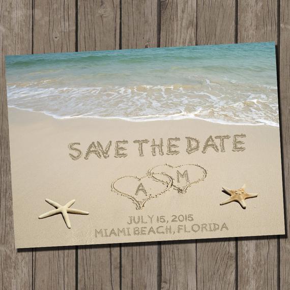 Save The Date Beach Wedding  Beach Wedding Save the Date Beach Wedding Save by