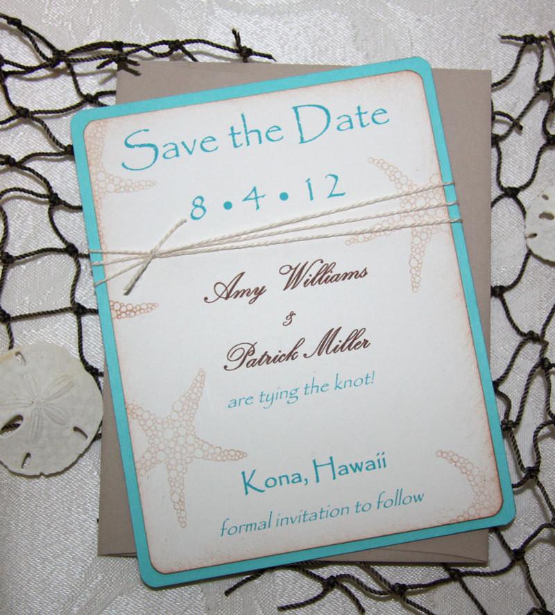 Save The Date Beach Wedding  100 Beach Wedding Save the Date Cards Save the Date Wedding