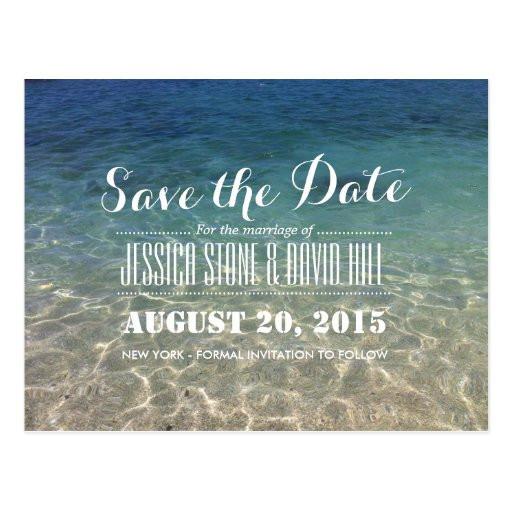 Save The Date Beach Wedding  Beautiful Tropical Beach Wedding Save the Date Postcard