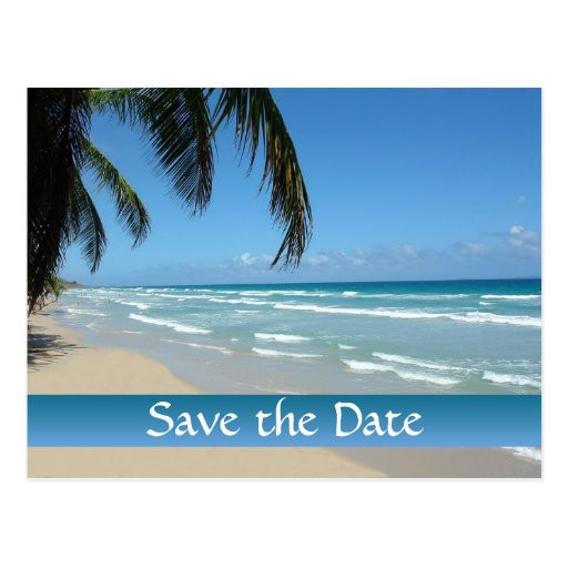 Save The Date Beach Wedding  Save the Date for Beach Wedding Postcard