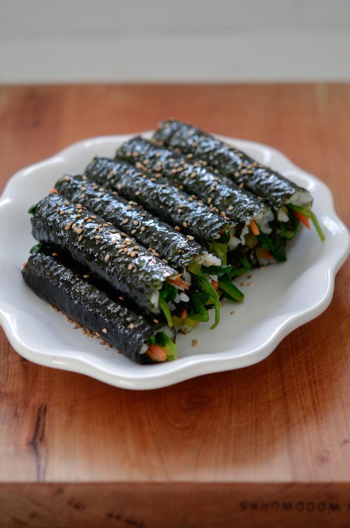 Seaweed Snacks Recipe  Mini Seaweed Rice Rolls Mayak Gimbap Beyond Kimchee