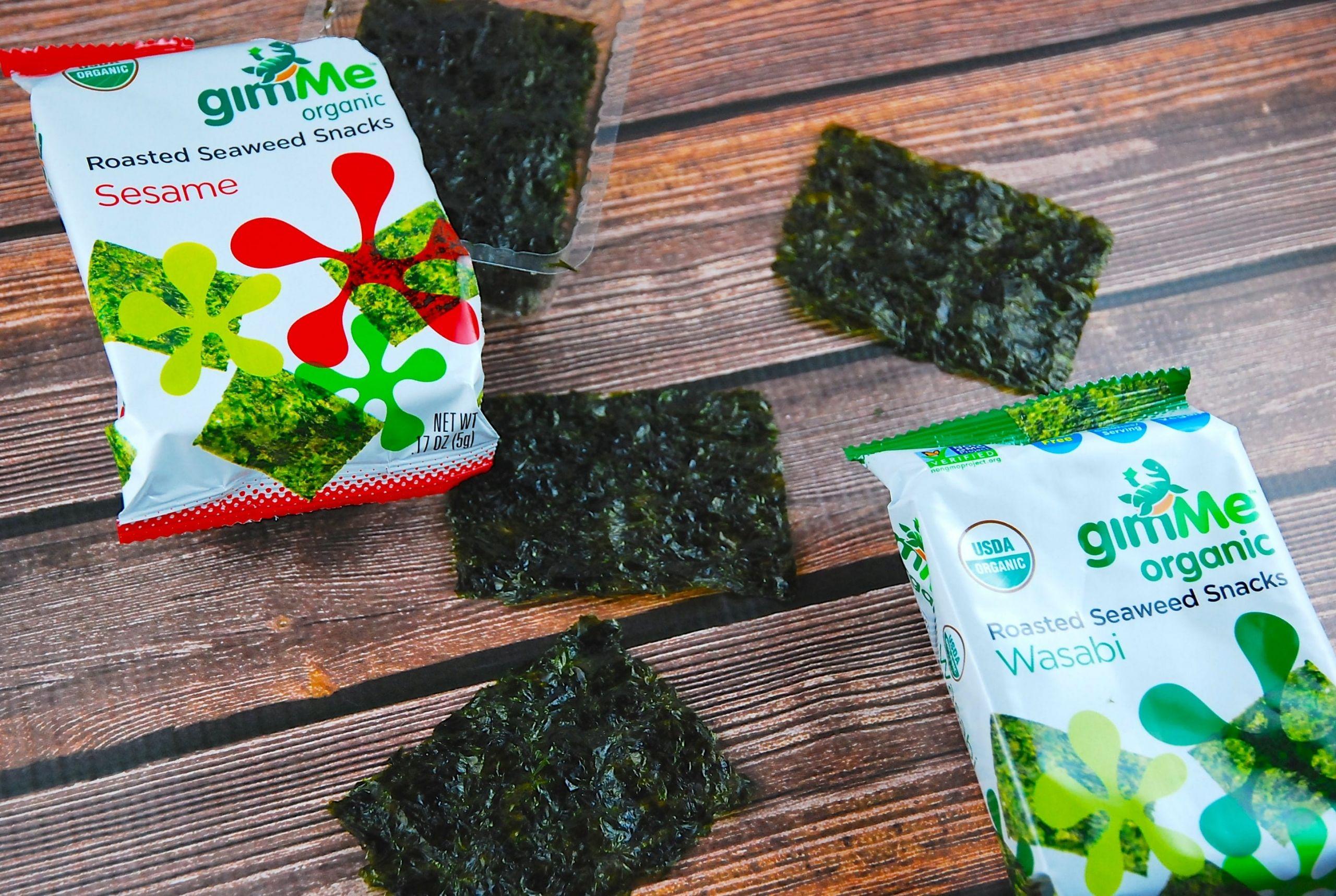 Seaweed Snacks Recipe  gimMe Organic Roasted Seaweed Snacks 1 Point LaaLoosh