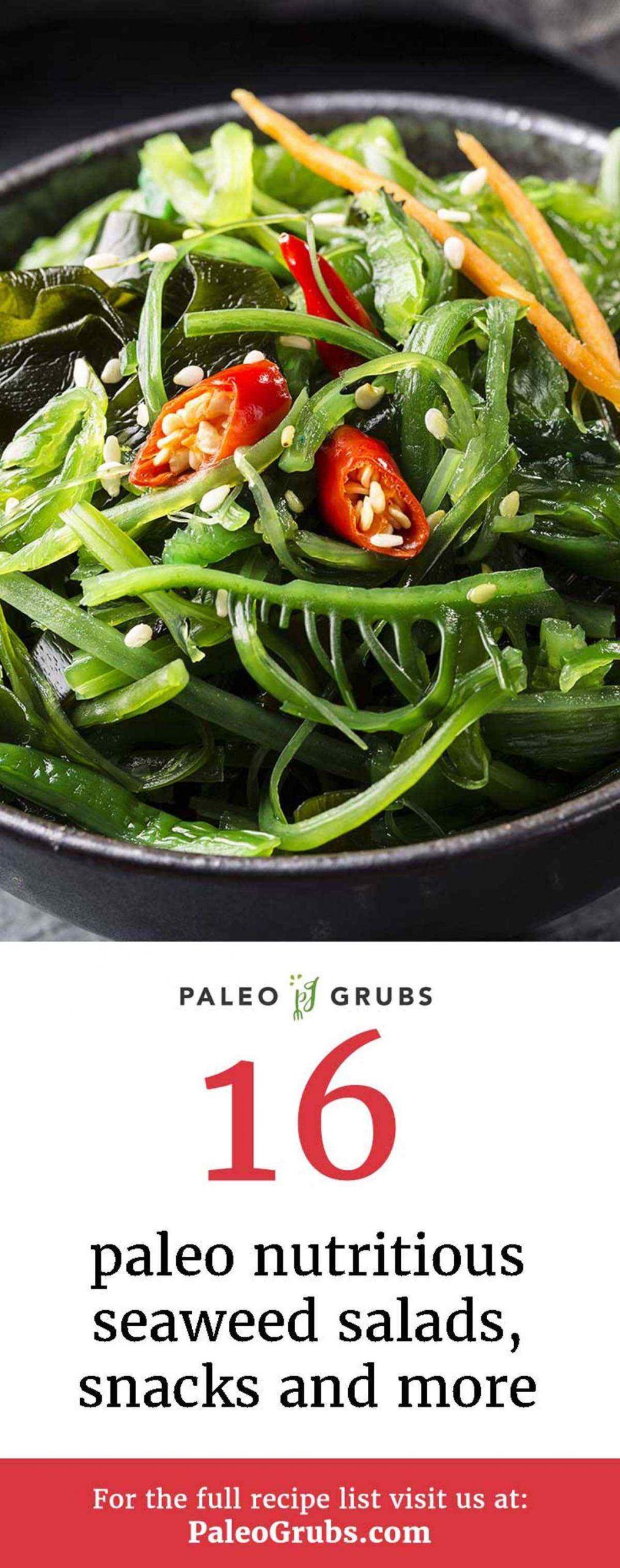 Seaweed Snacks Recipe  16 Paleo Nutritious Seaweed Salads Snacks and More