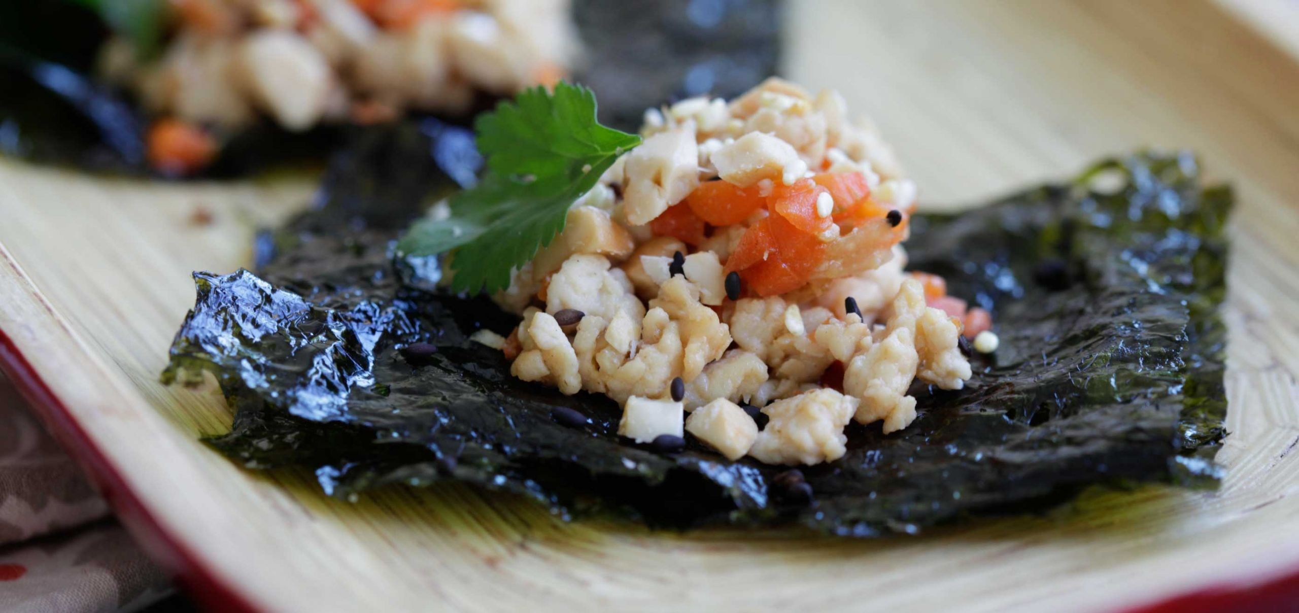 Seaweed Snacks Recipe  Ground Chicken Cashew and Seaweed Snack Wraps