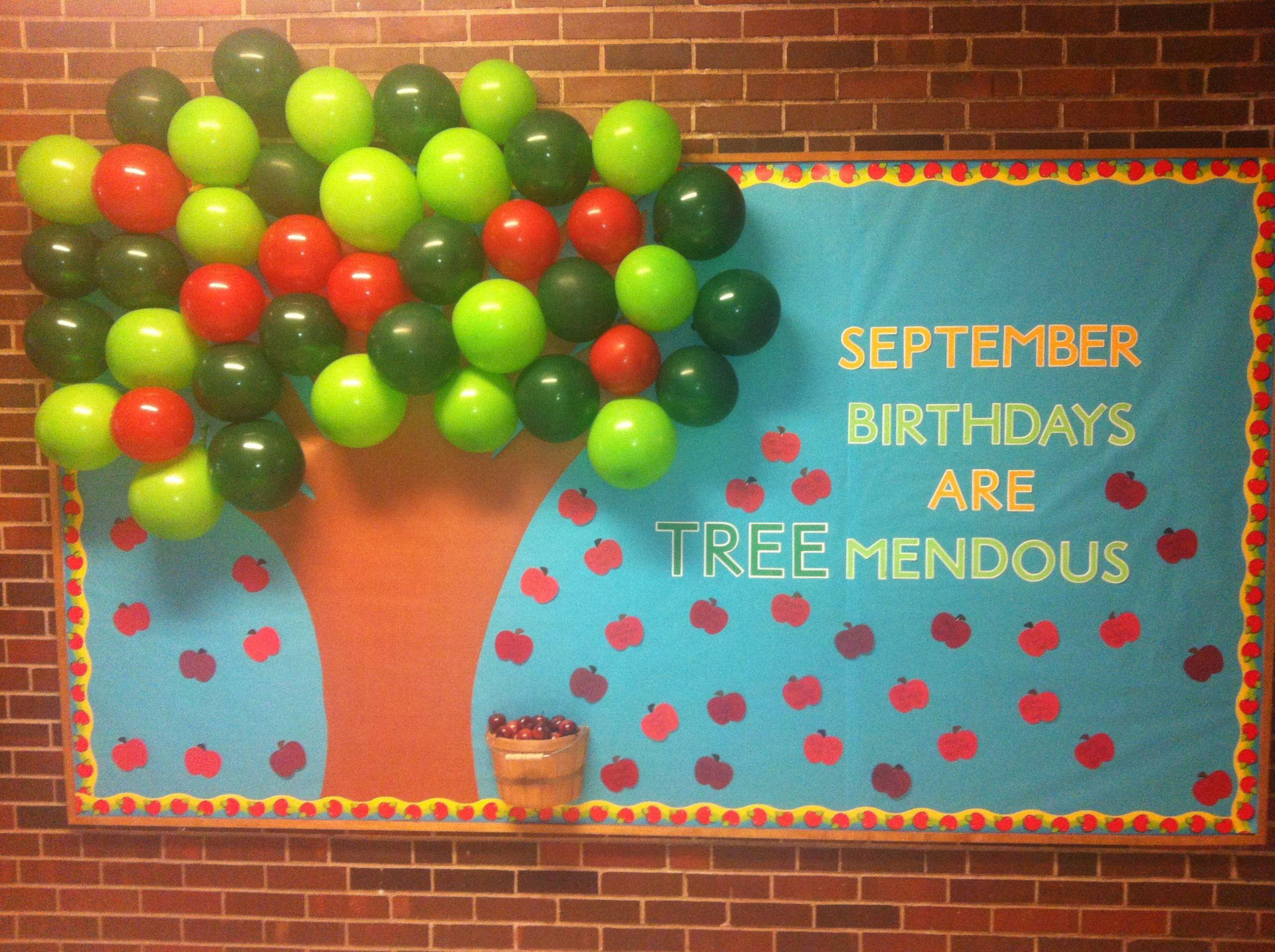 September Birthday Party Ideas  September Birthday Bulletin Board