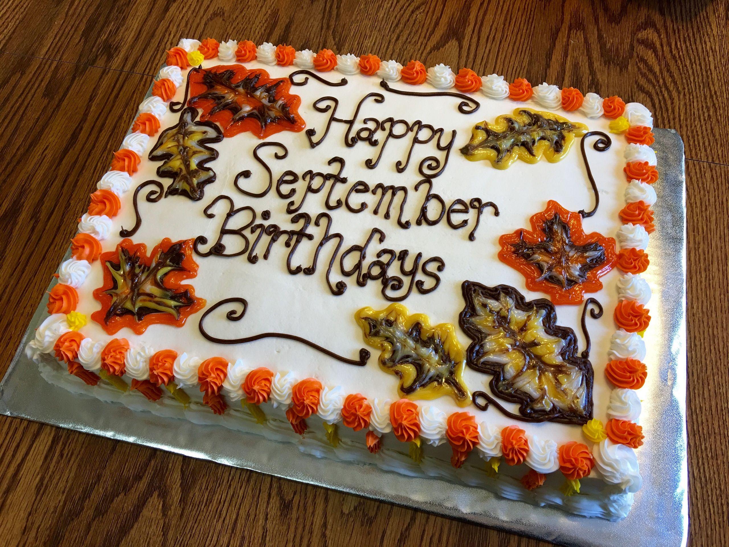 September Birthday Party Ideas  September Birthday Cake