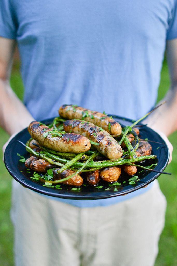 Side Dishes For Grilled Sausage  Grilled Sausage with Potatoes and Garlic Scapes