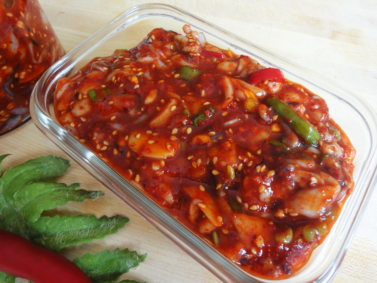 Side Dishes For Seafood  Fermented squid side dish Ojingeojeot recipe Maangchi