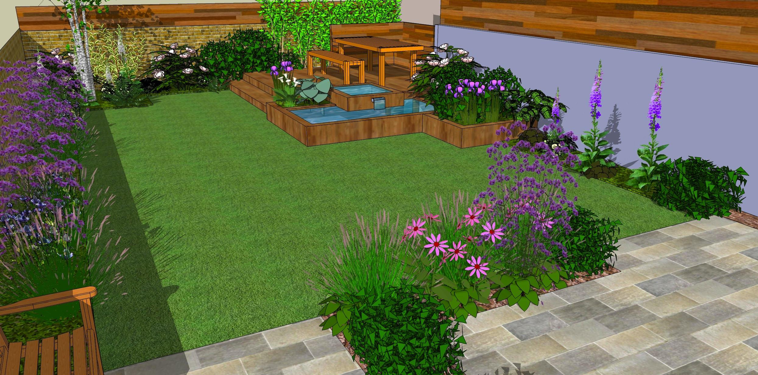 Simple Landscape Design  Low Maintenance garden designs Garden Club London