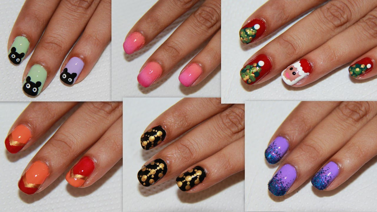 Simple Nail Art Designs  6 Easy Nail Art For Beginners