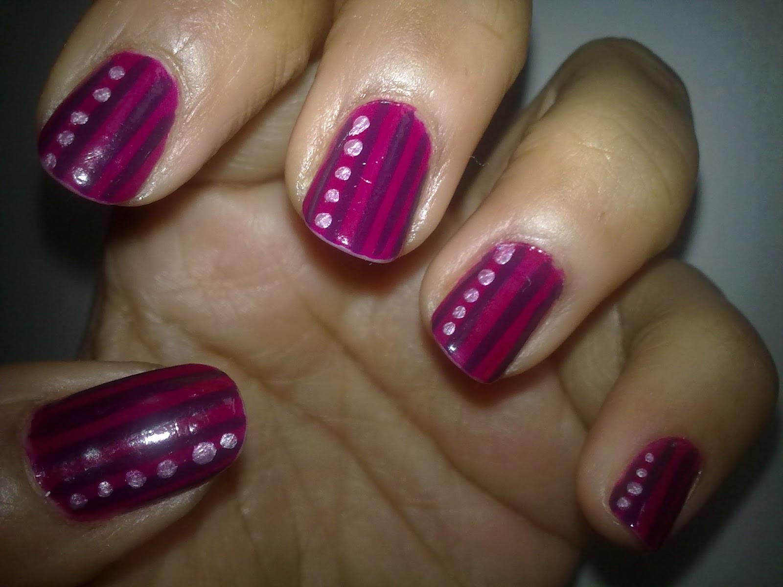 Simple Nail Art Designs  Love For Nail Art Stripes and dots nail art