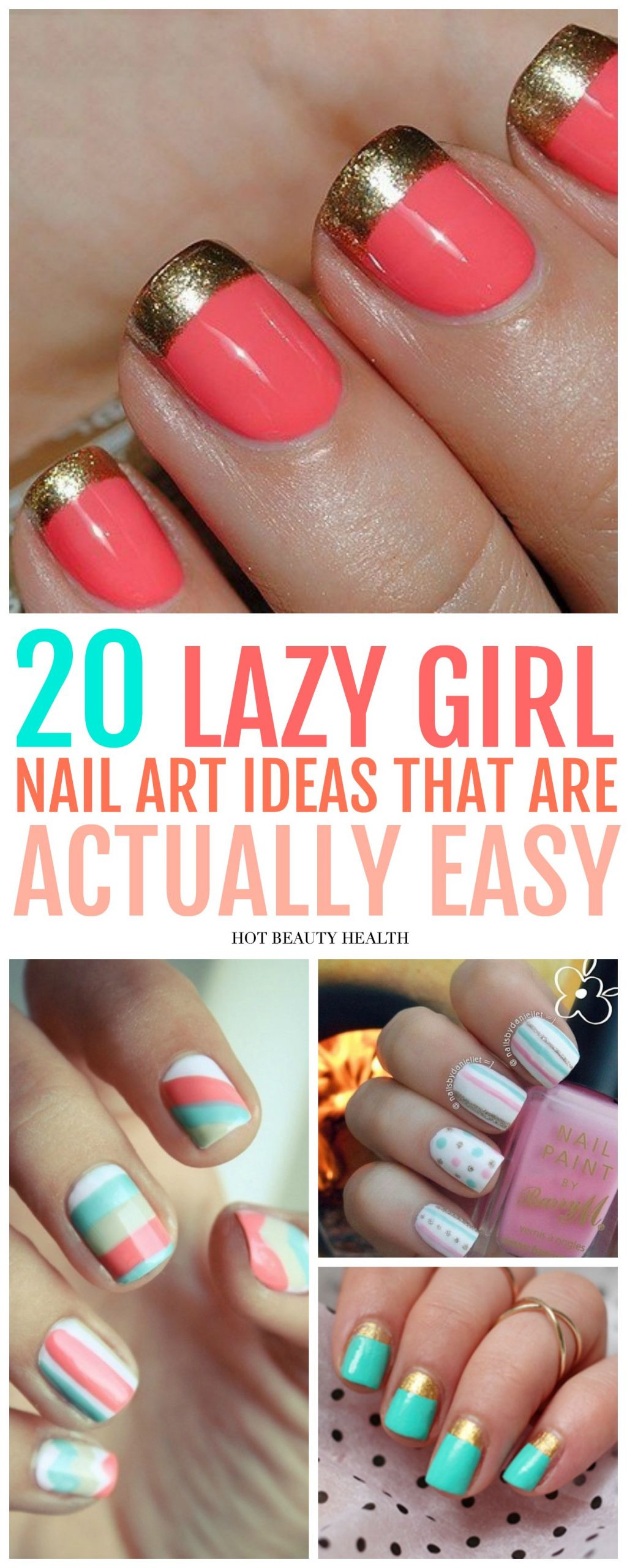Simple Nail Art Designs  20 Simple Nail Designs for Beginners Hot Beauty Health