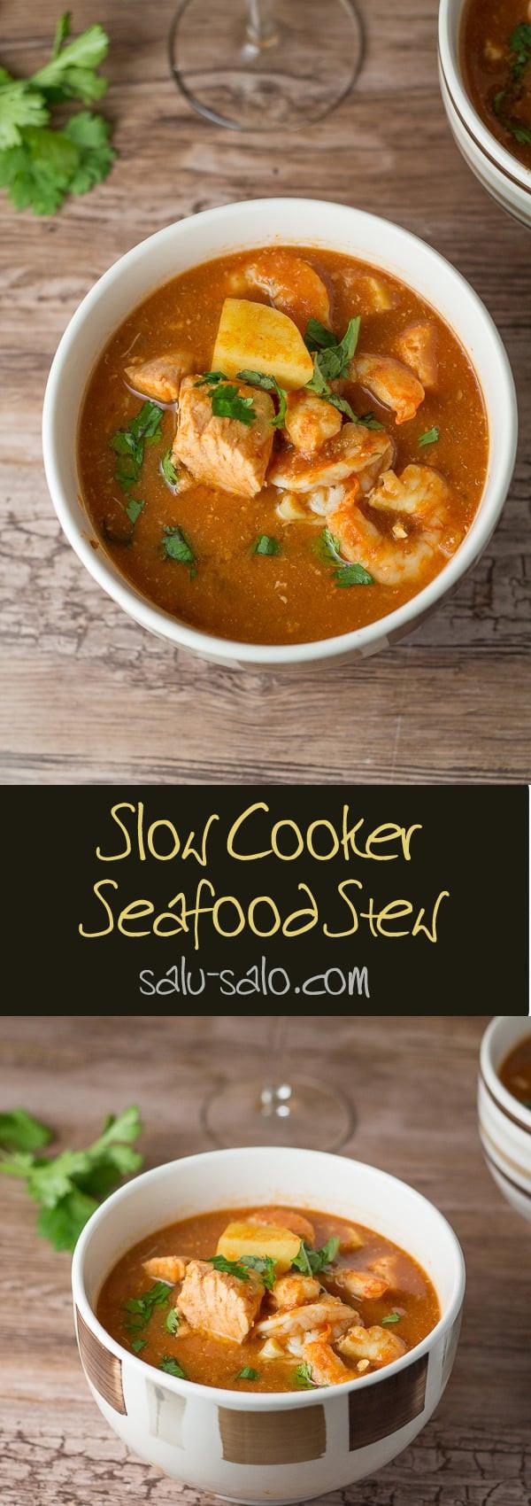 Slow Cooker Seafood Stew  Slow Cooker Seafood Stew Salu Salo Recipes