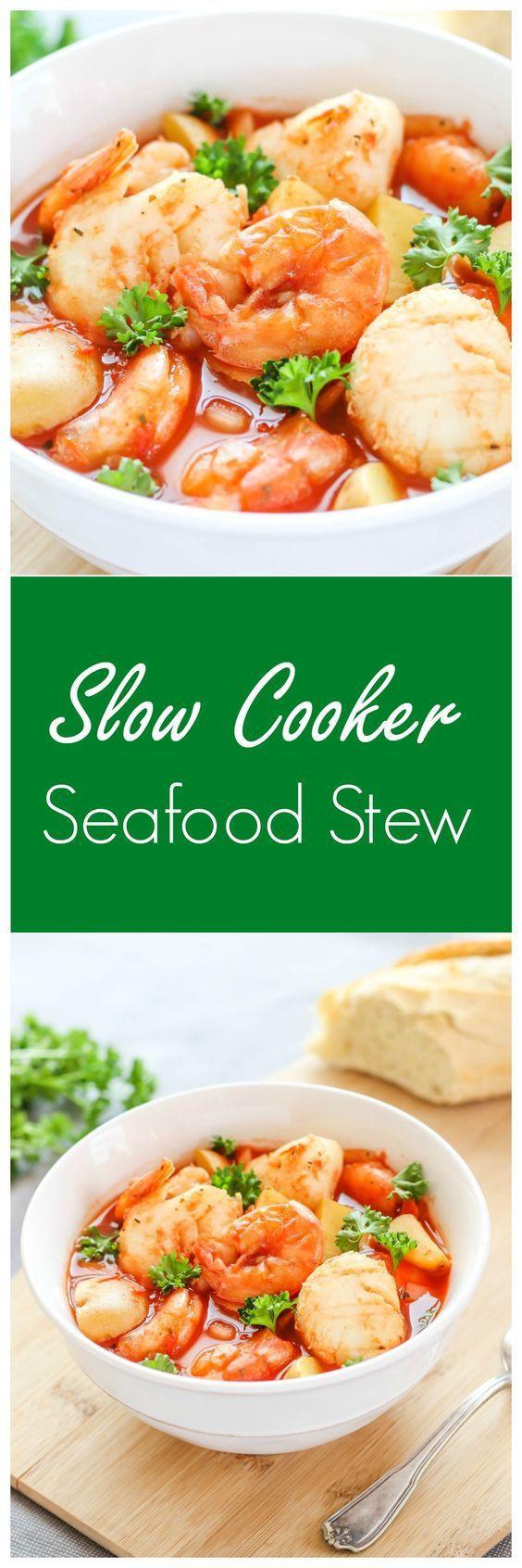 Slow Cooker Seafood Stew  Slow Cooker Seafood Stew – a delicious seafood recipe