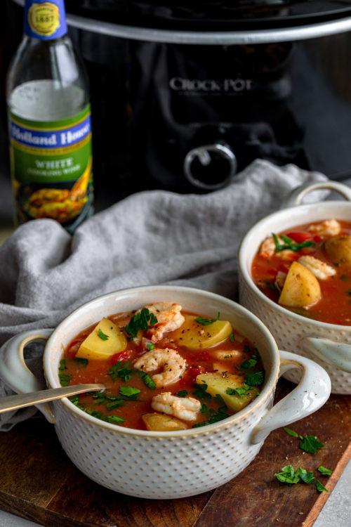 Slow Cooker Seafood Stew  Crock Pot Seafood Stew Dash of Mandi