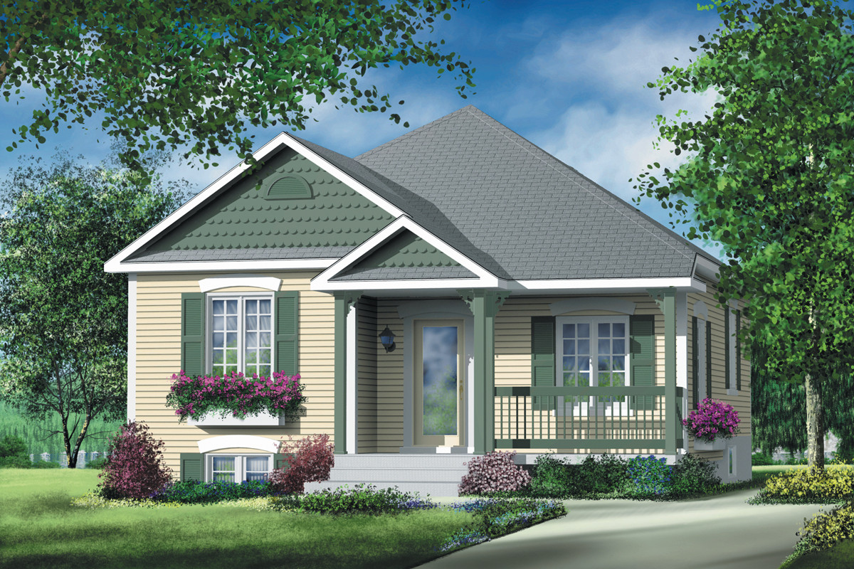 Small 2 Bedroom House Plans  Simple Two Bedroom Cottage PM