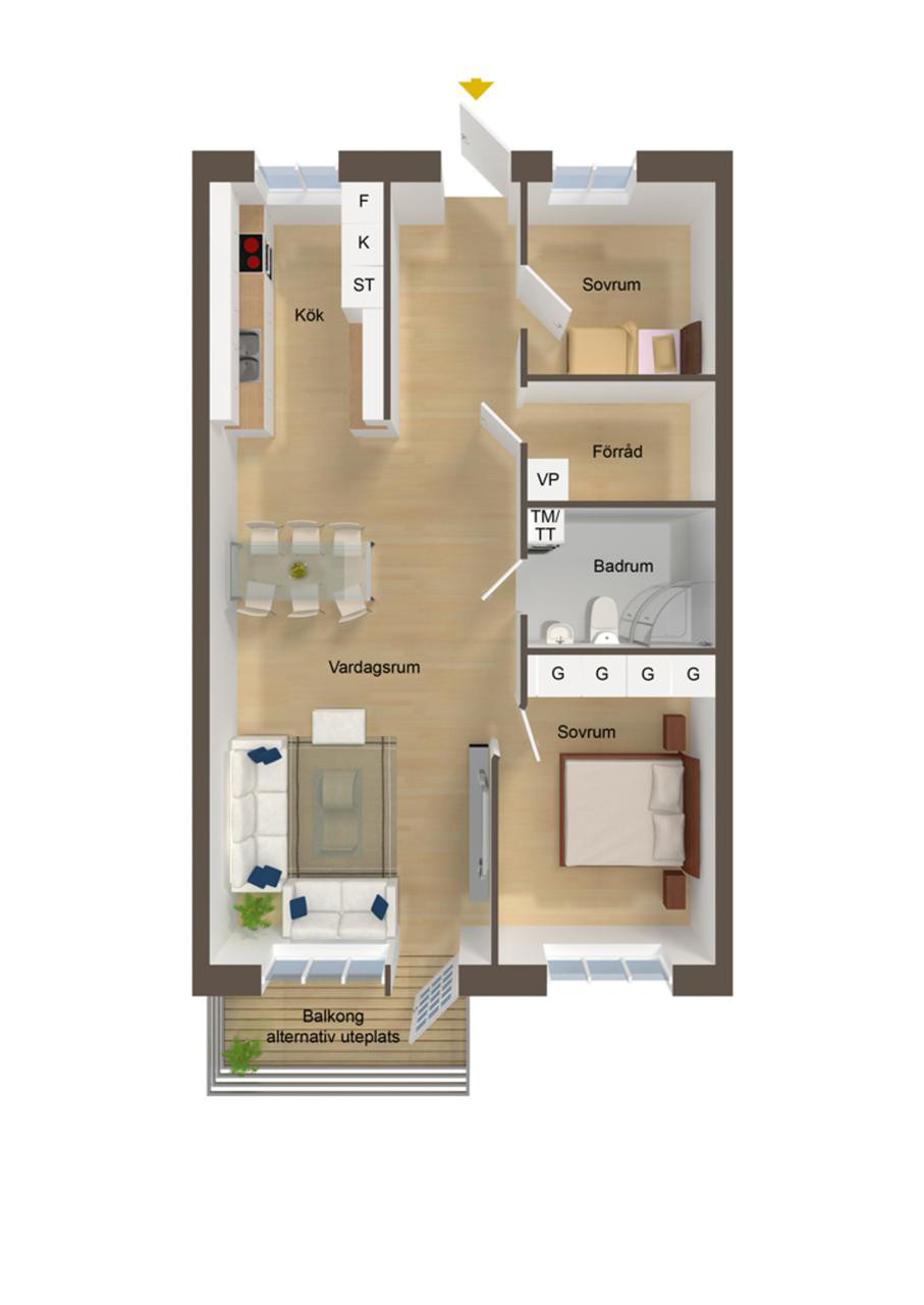 Small 2 Bedroom House Plans  40 More 2 Bedroom Home Floor Plans