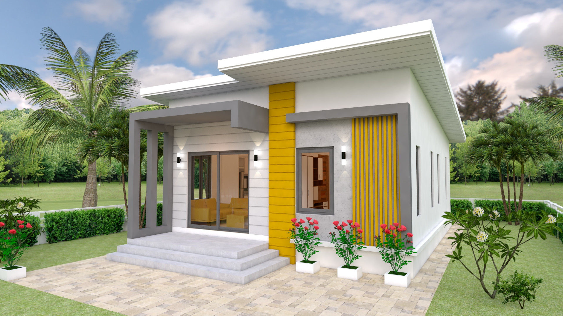 Small 2 Bedroom House Plans  House Design Plans 7x12 with 2 Bedrooms Full Plans