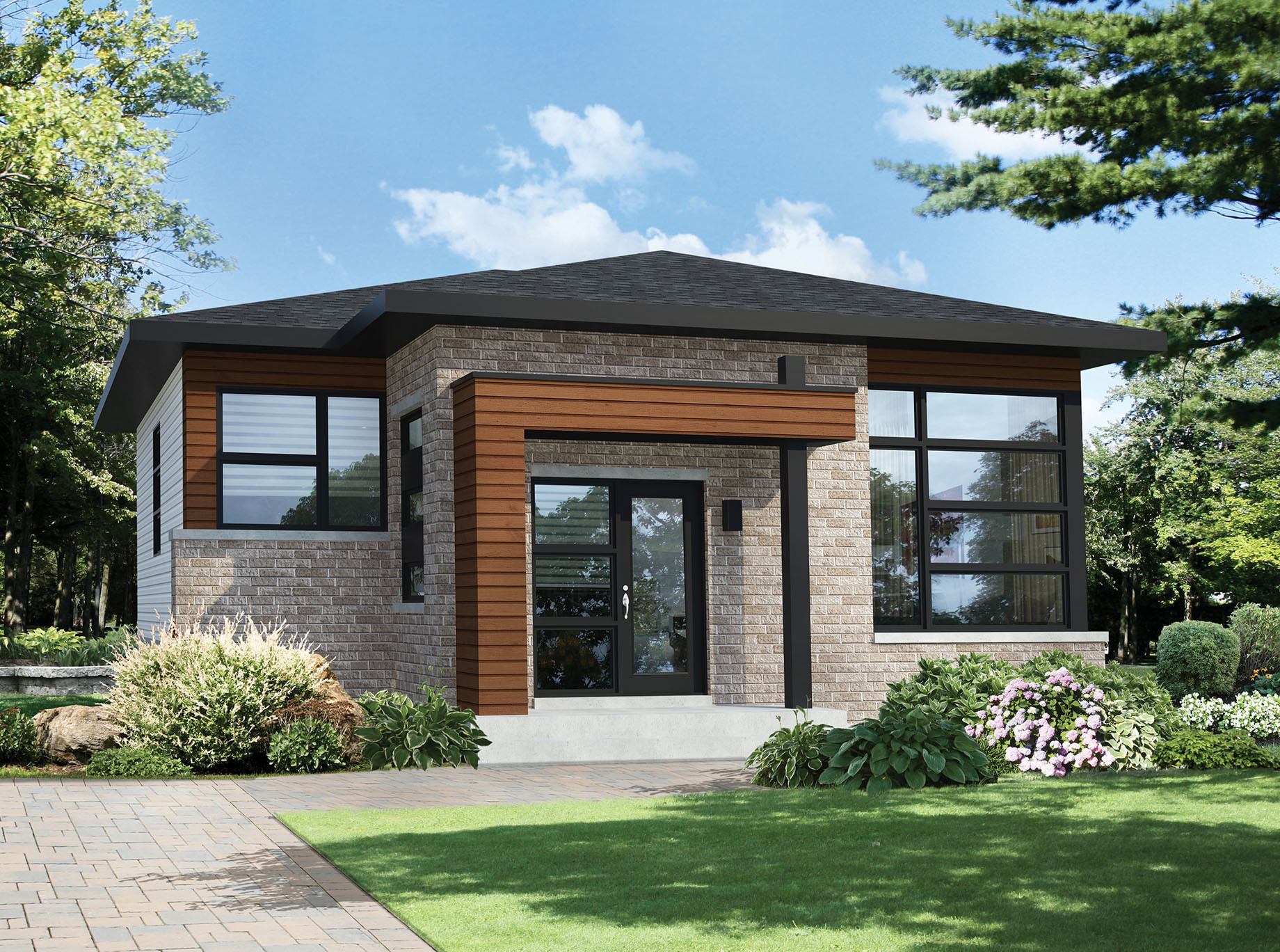 Small 2 Bedroom House Plans  Two Bedroom Modern House Plan PM