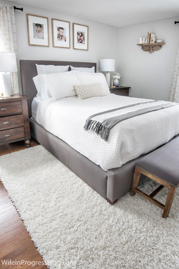 Small Bedroom Makeover  Small Master Bedroom Makeover Before & After Paint