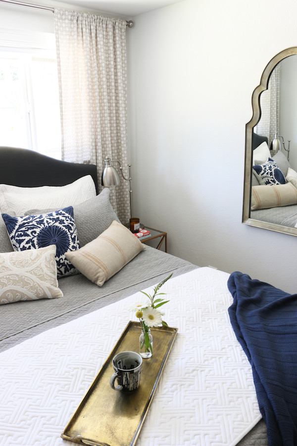 Small Bedroom Makeover  Small Bedroom Makeover Before & After The Inspired Room