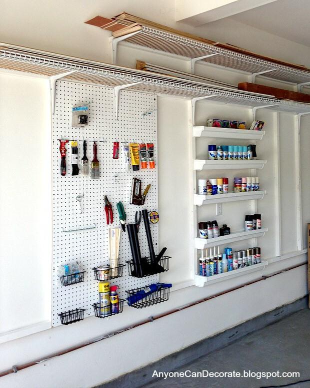 Small Garage Organizing Ideas  Garage Storage on a Bud • The Bud Decorator