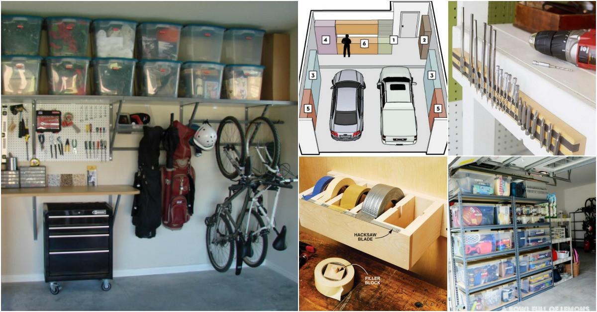 Small Garage Organizing Ideas  49 Brilliant Garage Organization Tips Ideas and DIY