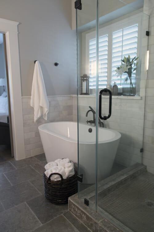 Small Spa Bathroom  How to Make A Small Master Bath Spa like Modernize