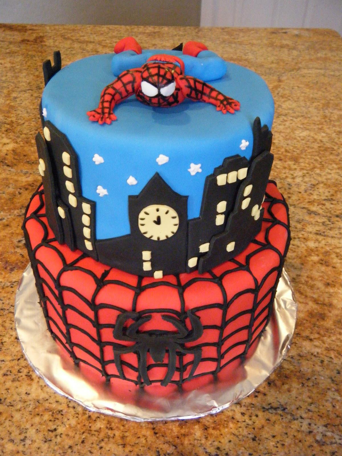 Spiderman Birthday Cakes  Cassy s Cakes Spiderman Cake