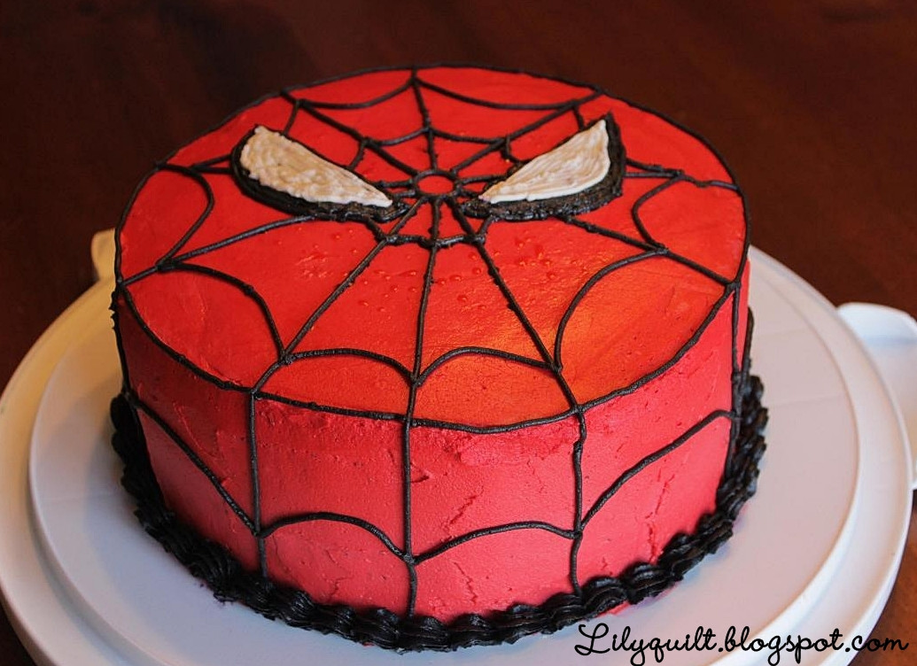 Spiderman Birthday Cakes  Lilyquilt Spider Man Birthday Cake Tutorial