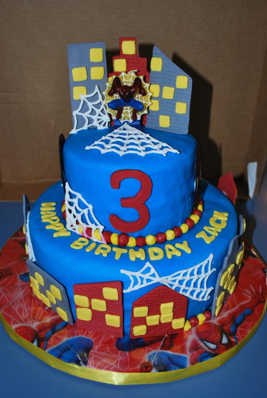 Spiderman Birthday Cakes  Spiderman 3Rd Birthday Cake CakeCentral