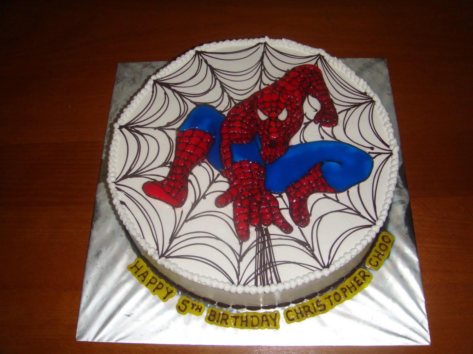 Spiderman Birthday Cakes  Yummy Baking Spiderman Birthday Cake