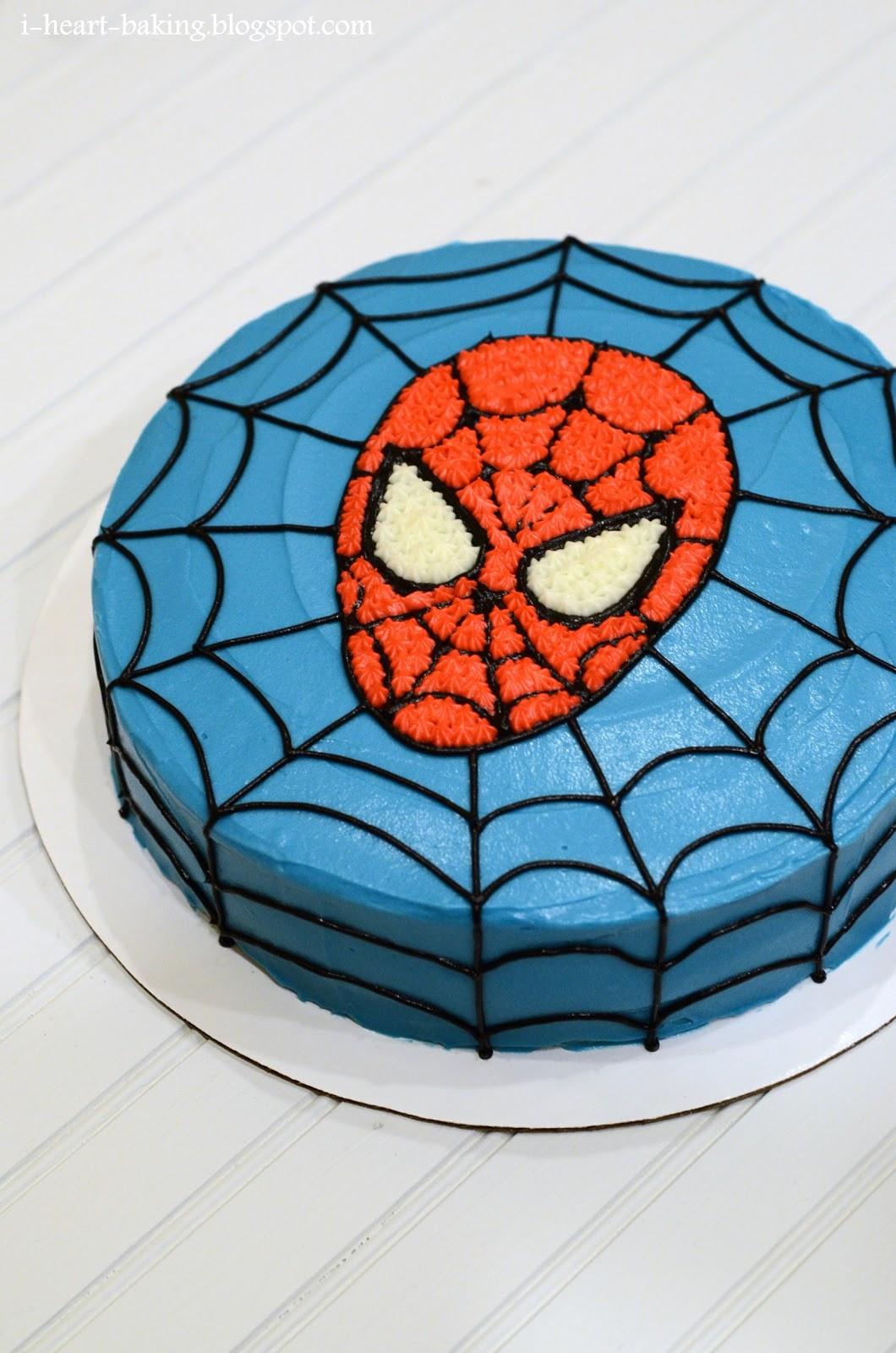 Spiderman Birthday Cakes  i heart baking spiderman birthday cake