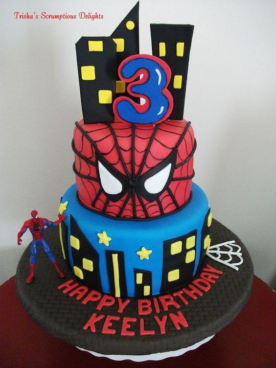 Spiderman Birthday Cakes  21 Spiderman Birthday Party Ideas Pretty My Party