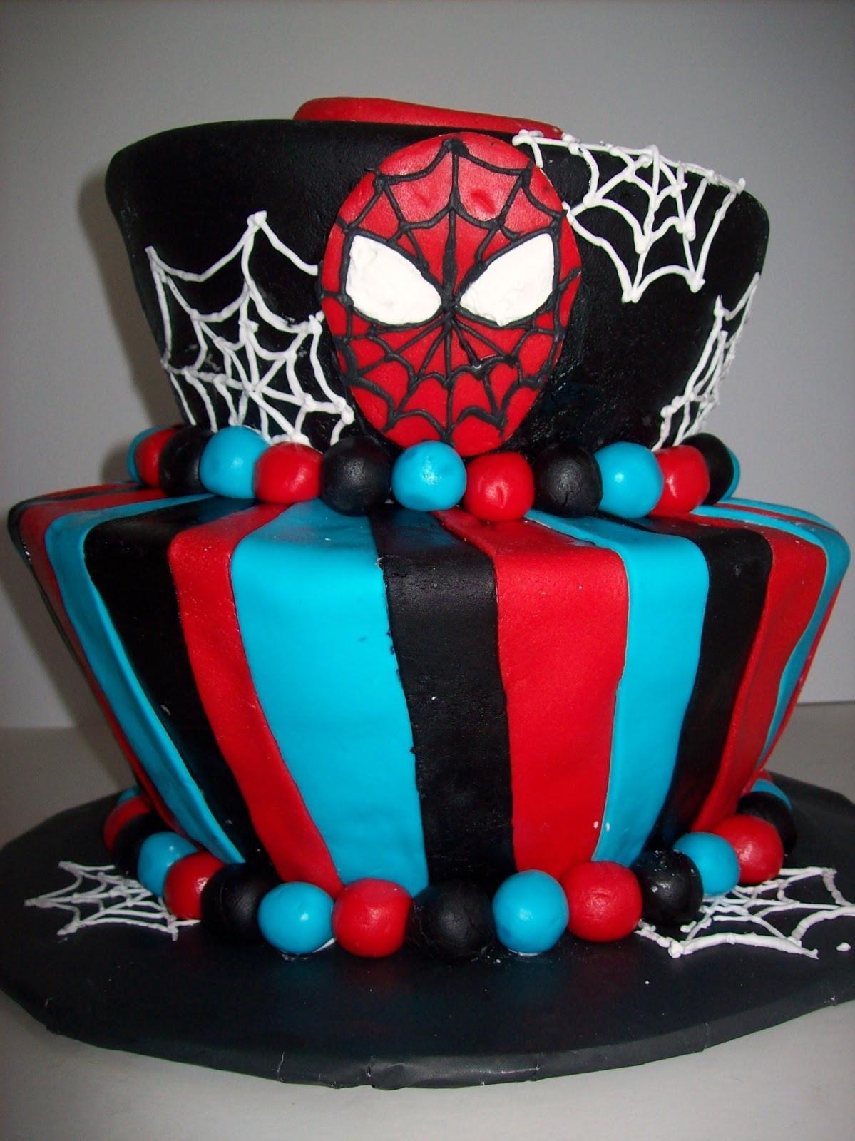 Spiderman Birthday Cakes  SAB Cakes Spiderman Birthday Cake