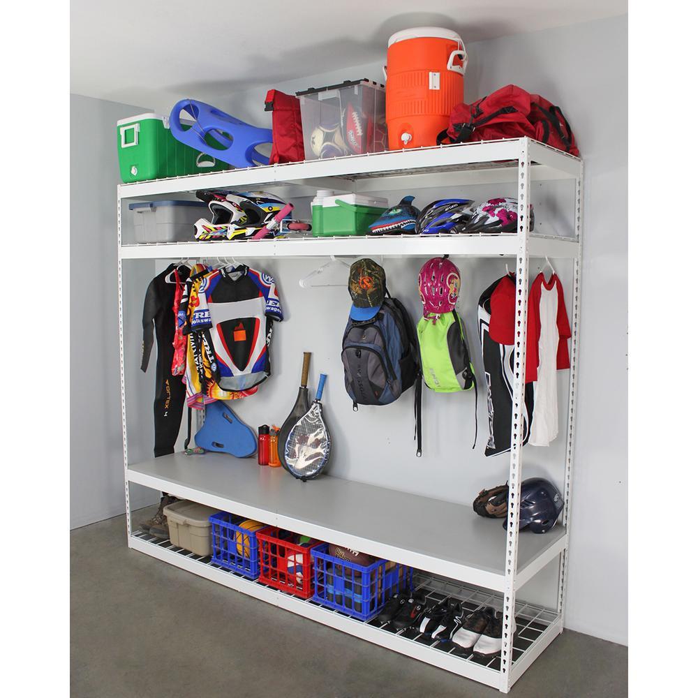 Sports Equipment Organizer For Garage  SafeRacks 24 in D x 96 in H x 84 in W 4 Shelf