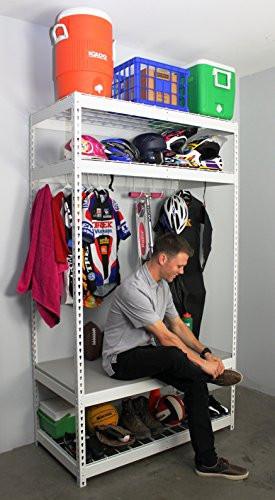 Sports Equipment Organizer For Garage  SafeRacks Sports Equipment Storage Rack Shelving 2 D x 4 W
