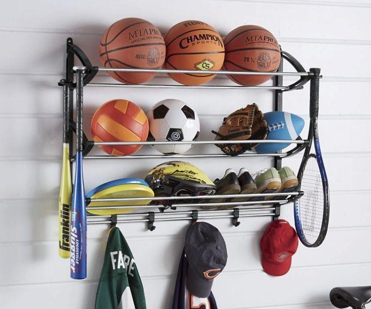 Sports Equipment Organizer For Garage  Sports Equipment Storage Rack Garage Organizer Station