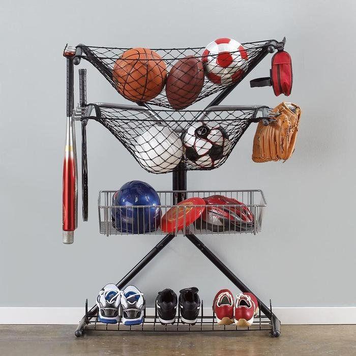 Sports Equipment Organizer For Garage  Sports Equipment Storage X Rack