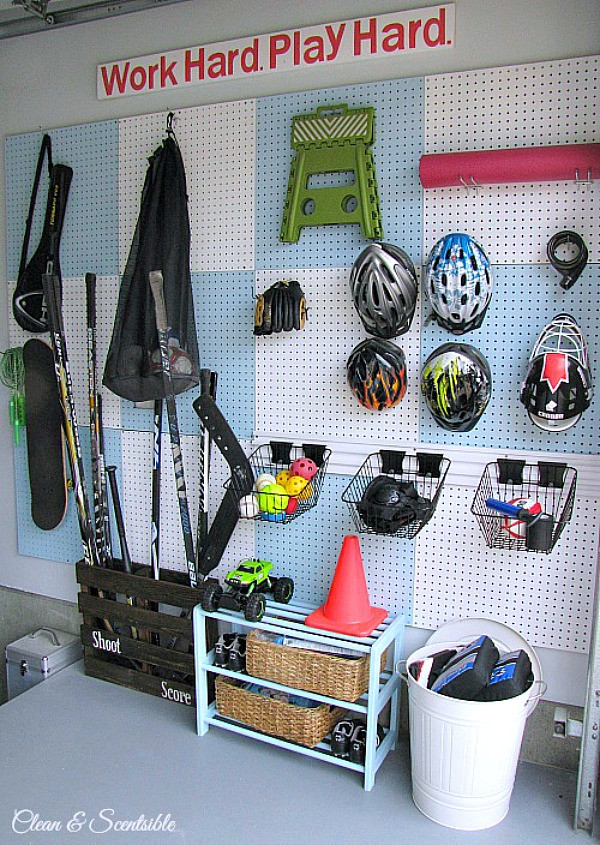 Sports Equipment Organizer For Garage  How to Organize the Garage Clean and Scentsible