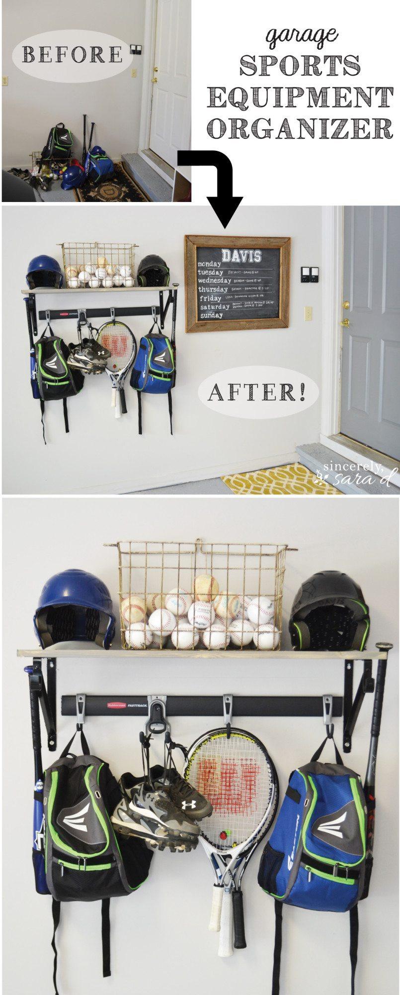 Sports Equipment Organizer For Garage  Garage Sports Equipment Organizer